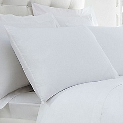 Home Collection - White Egyptian cotton 200 thread count Oxford pillow case pair