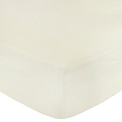 Home Collection - Ivory Egyptian cotton 200 thread count fitted sheet