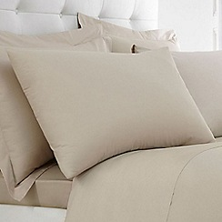 Home Collection - Taupe Egyptian cotton 200 thread count pillow case pair