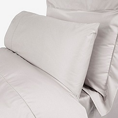 Debenhams - Grey 'Supima' cotton 500 thread count bed sheets