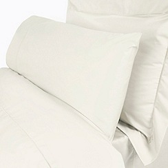 Debenhams - Ivory Supima cotton 500 thread count square pillowcases