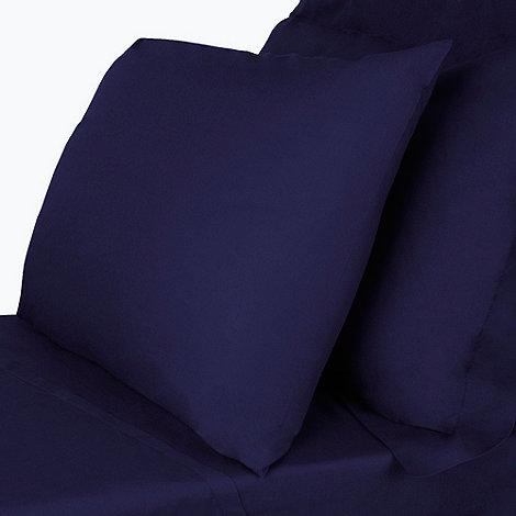 Debenhams - Navy supima cotton bed linen