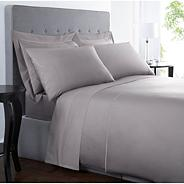 Grey Supima® cotton 500 thread count  bed sheets