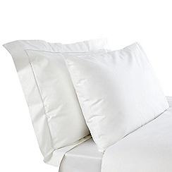 Debenhams - White Supima cotton 500 thread count flat sheet
