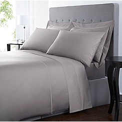 Designers at Debenhams - Grey Supima cotton 500 thread count bed linen