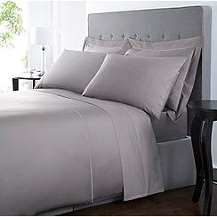 Debenhams - Grey 'Supima' cotton 500 thread count flat sheets