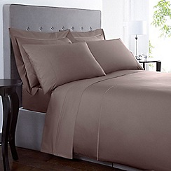 Debenhams - Light brown 'Supima' pair of standard pillowcases