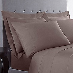 Designers at Debenhams - Mink 500 thread count Supima cotton Oxford pillow case pair
