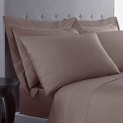 Designers at Debenhams - Mink 500 thread count Supima cotton pillow case pair
