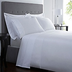 Designers at Debenhams - White Supima cotton 500 thread count bed linen