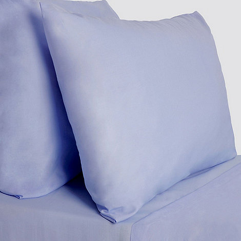 Debenhams - Pale blue 200 thread count brushed cotton flannelette fitted sheet