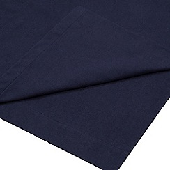 Home Collection - Navy 180 thread count brushed cotton flannelette flat sheet