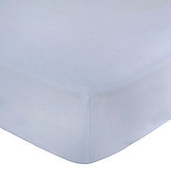 Home Collection - Pale blue 200 thread count brushed cotton flannelette fitted sheet