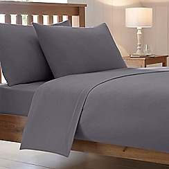 Home Collection - Grey brushed cotton flannelette 200 thread count duvet cover