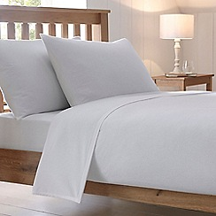 Home Collection - White 200 thread count brushed cotton flannelette duvet cover