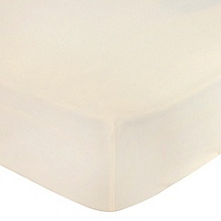 Debenhams - Cream 180 thread count brushed cotton flannelette fitted sheet