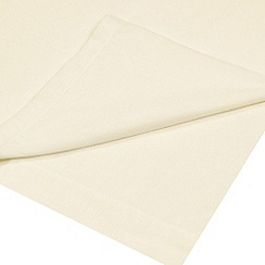 Debenhams - Cream 200 thread count brushed cotton flannelette flat sheet