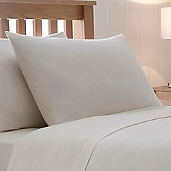 Home Collection - Cream 180 thread count brushed cotton flannelette standard pillow case pair