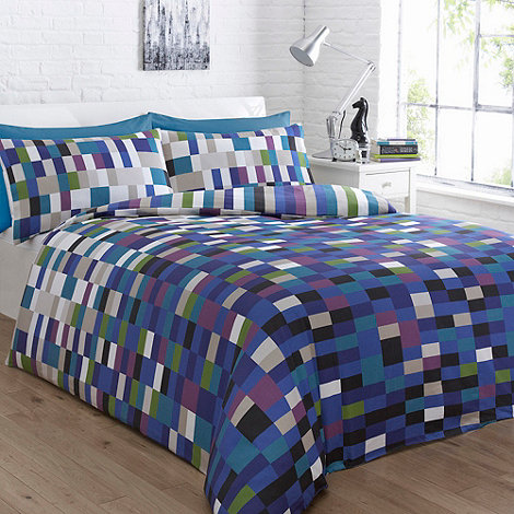 Home Collection Basics - Blue +Cubix+ bedding set