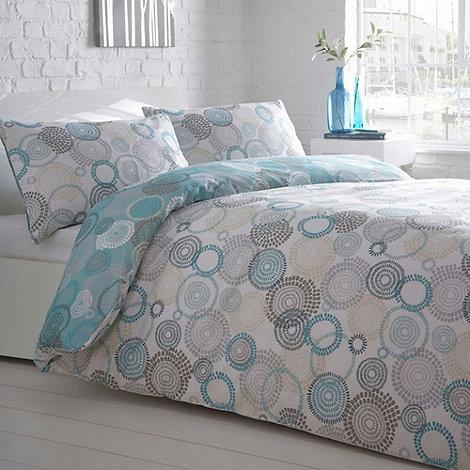 Debenhams - Aqua +Mosaic Circled+ bedding set