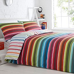Debenhams - White 'Millie Stripe' bedding set