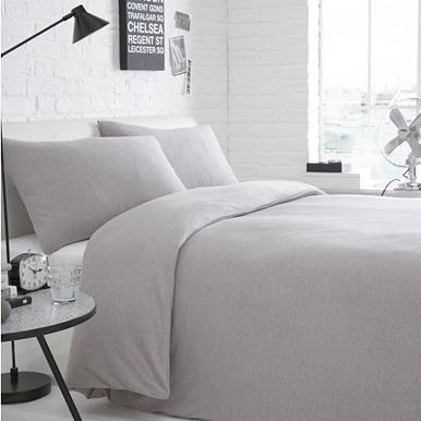 light grey jersey bedding set duvet covers pillow cases. Black Bedroom Furniture Sets. Home Design Ideas