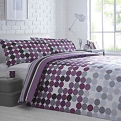 Debenhams - Purple 'Polka' bedding set