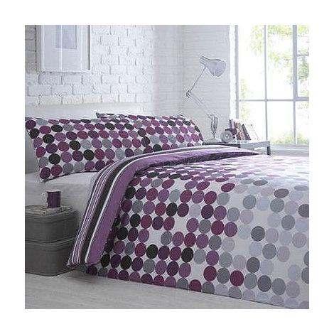 Debenhams - Purple +Polka+ bedding set
