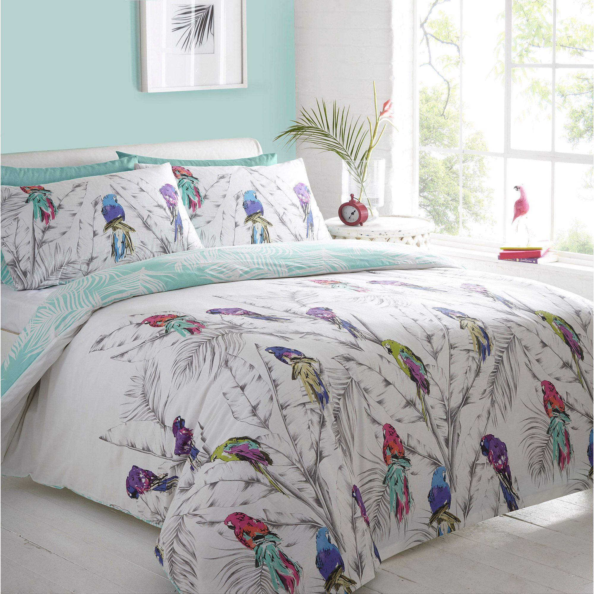 Debenhams Bed Sets Home Collection Blue And Grey Curious Bird Bedding Set Debenhams Debenhams