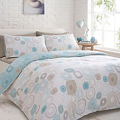 Home Collection Basics - Aqua 'Echo circles' bed linen