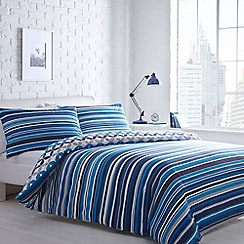 Home Collection Basics - Blue 'Jackson Stripe' bedding set