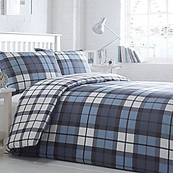 Home Collection Basics - Blue 'Taunton Check' bedding set