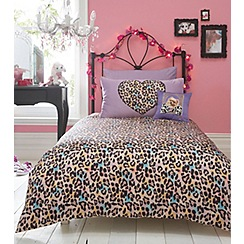 Star by Julien MacDonald - Designer kid's natural leopard bedding set