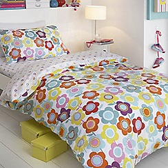 bluezoo - White floral bedding set