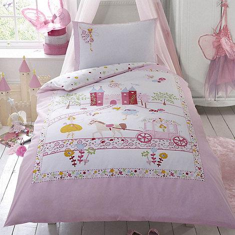 bluezoo - Kids+ pink +Ballerina Princess+ single duvet cover and pillow case set