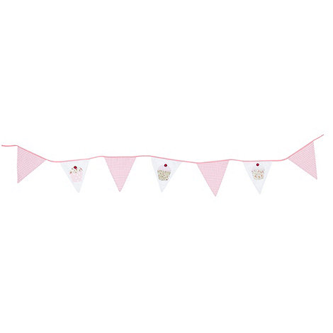 Gisela Graham - Pink cupcake printed bunting