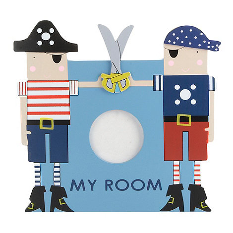Gisela Graham - Blue +Pirate+ room plaque