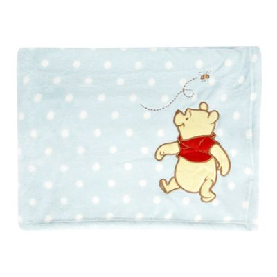 Disney Light blue Winnie The Pooh throw
