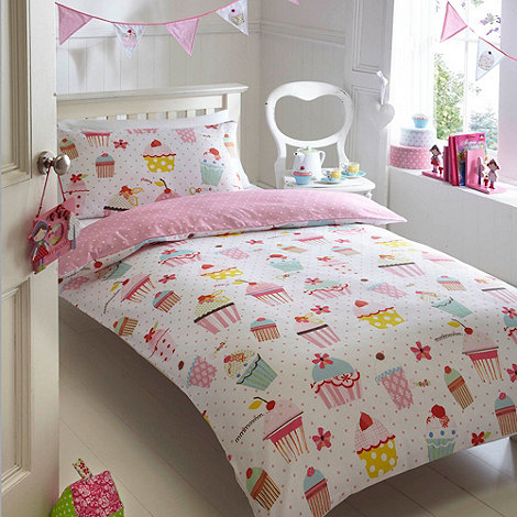 bluezoo - Pink and white +Cupcakes+ bedding set