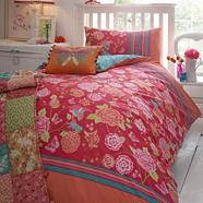 Pink 'Eden' bedding set