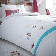 Girl's white 'Zoe' floral bedding set