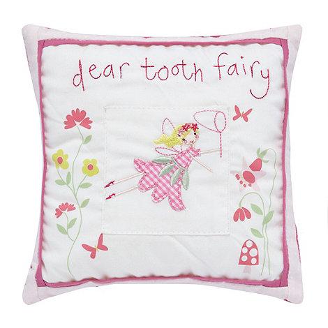 Gisela Graham - White +Tooth Fairy+ cushion