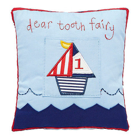Gisela Graham - Blue +Dear tooth fairy+ cushion