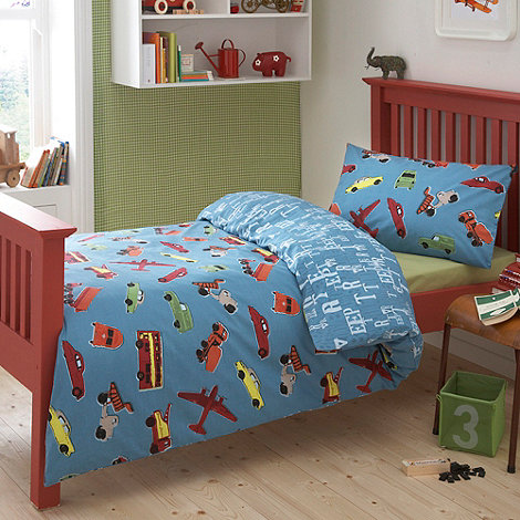 Ben de Lisi Home - Kid+s blue +cars+ single bedding set