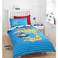 bluezoo - Kid's blue 'pirates' bedding set