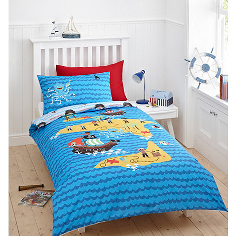 bluezoo - Kid+s blue +pirates+ bedding set