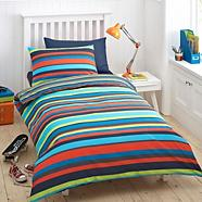 Boy's blue 'Bright Stripe' bedding set