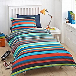bluezoo - Kids' blue 'Bright Stripe' bedding set