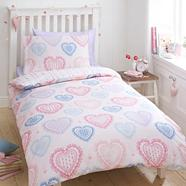 Pink 'Hearts' bedding set