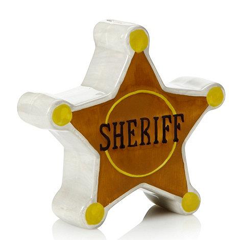 Gisela Graham - Sheriff star ceramic money box